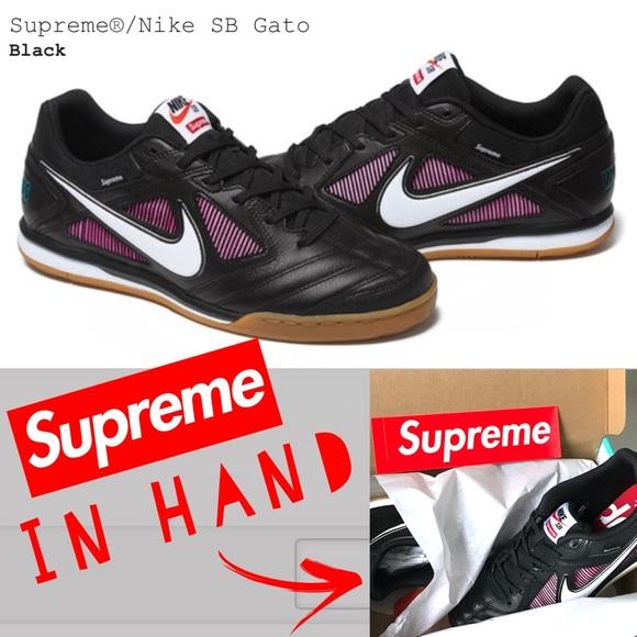 Supreme Sneakers Shoes Nike Sb Gato Sneakers Supreme Black Sizoshmark c4ca80
